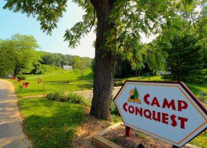 Camp Conquest entrance.