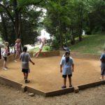 Kids playing Ga-Ga Ball.