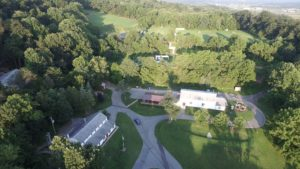 Dining Hall and Gym from above.