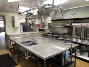 Dining hall kitchen.